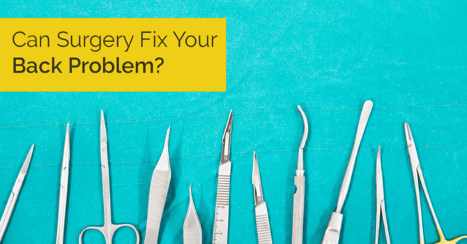 Is Back Surgery Your Friend or Your Foe? image