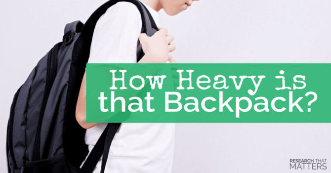 Backpacks and Back Pain in Kiddos image